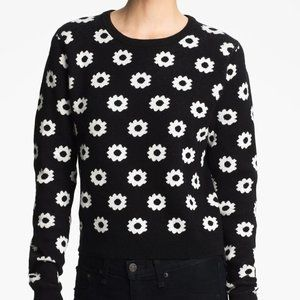 OPENING CEREMONY floral crop jacquard sweater